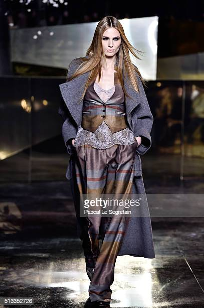 Andreja Pejic walks the runway during the HM show as part of the Paris Fashion Week Womenswear Fall/Winter 2016/2017 on March 2 2016 in Paris France