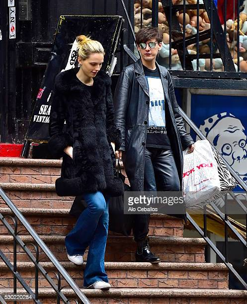 Andreja PejiDamon Baker are seen in Chinatown on May 10 2016 in New York City