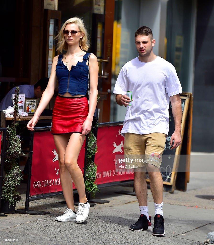 Andreja Peji,Igor Peji are seen in the East Village on August 23, 2017 in New York City.