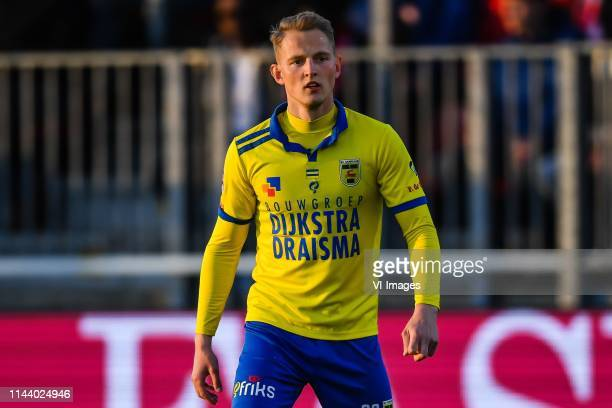 Andrejs Ciganiks of SC Cambuur during the Dutch Keuken Kampioen Divisie play off match between Almere City and Cambuur Leeuwarden at Yanmar Stadium...
