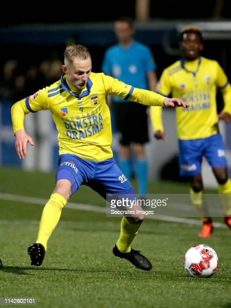 Andrejs Ciganiks of SC Cambuur during the Dutch Keuken Kampioen Divisie match between SC Cambuur v Almere City at the Cambuur Stadium on May 10 2019...