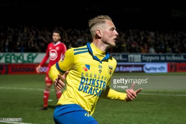 Andrejs Ciganiks of SC Cambuur Leeuwarden 22 during the Dutch Keuken Kampioen Divisie play off match between Cambuur Leeuwarden and Almery City at...