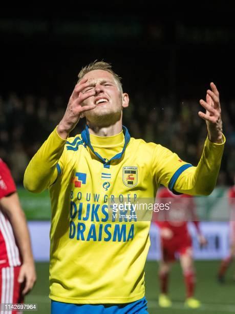 Andrejs Ciganiks of SC Cambuur Leeuwarden during the Dutch Keuken Kampioen Divisie play off match between Cambuur Leeuwarden and Almery City at the...