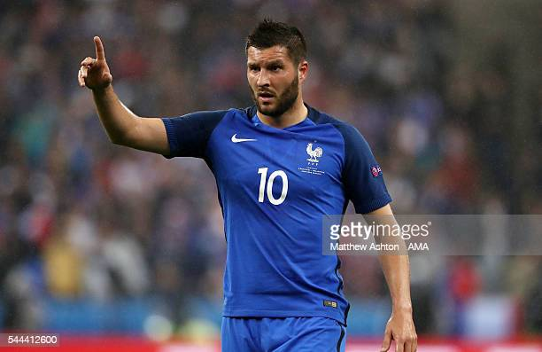 AndrePierre Gignac of France during the UEFA Euro 2016 quarter final match between France and Iceland at Stade de France on July 3 2016 in Paris...