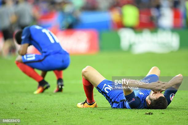 AndrePierre Gignac of France is seen after Portugal won the Euro 2016 final football match at the Stade de France in SaintDenis north of Paris France...