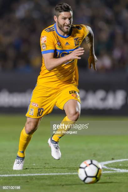 AndrePierre Gignac of Tigres chases the ball during the quarterfinals second leg match between Tigres UANL and Toronto FC as part of the CONCACAF...