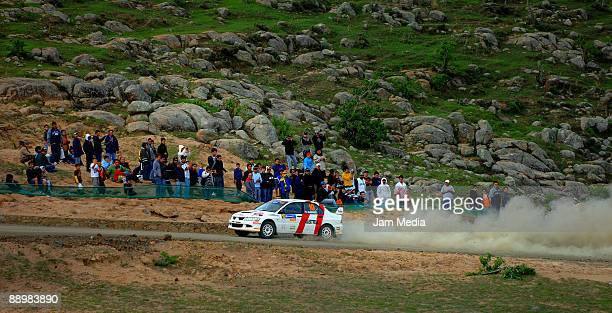 Andres Aigner and Daniela Weissengruber of Austria in action during the second day of the Rally of Nations Mexico 2009 on July 11 2009 in Leon Mexico
