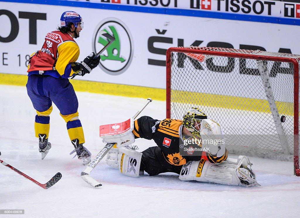 Skelleftea AIK v HC Davos - Champions Hockey League Quarter Final : Nachrichtenfoto
