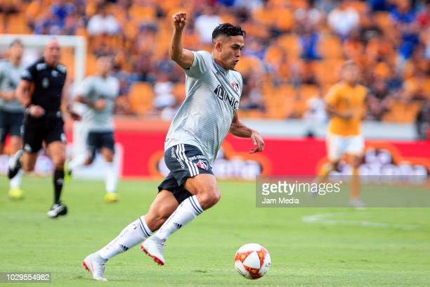 Andres Andrade of Atlas controls the ball during the 6th round match between Tigres UANL and Veracruz as part of the Torneo Apertura 2018 Liga MX at...