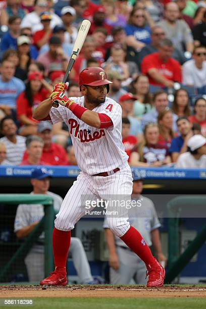Andres Blanco of the Philadelphia Phillies during a game against the Kansas City Royals at Citizens Bank Park on July 2 2016 in Philadelphia...