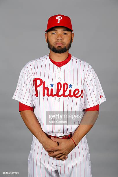Andres Blanco of the Philadelphia Phillies poses during Photo Day on Friday February 27 2015 at Bright House Field in Clearwater Florida