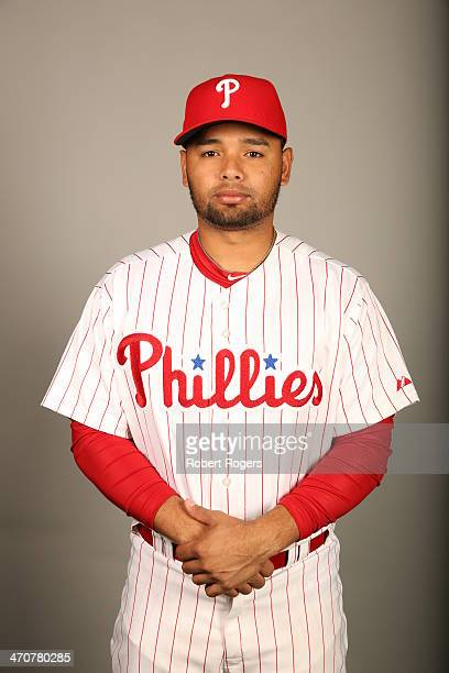 Andres Blanco of the Philadelphia Phillies poses during Photo Day on Wednesday February 19 2014 at Bright House Field in Clearwater Florida