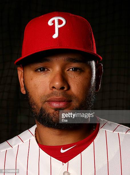 Andres Blanco of the Philadelphia Phillies poses for a portrait on February 26 2016 at Bright House Field in Clearwater Florida