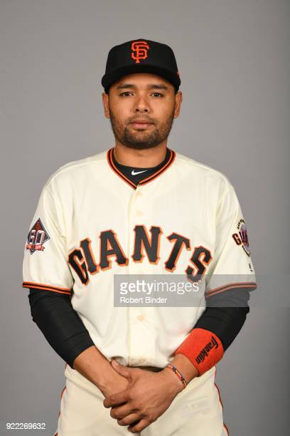 Andres Blanco of the San Francisco Giants poses during Photo Day on Tuesday February 20 2018 at Scottsdale Stadium in Scottsdale Arizona