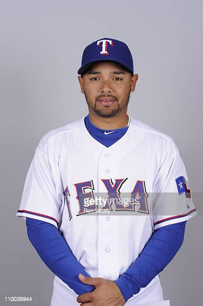 Andres Blanco of the Texas Rangers poses during Photo Day on Friday February 25 2011 at Surprise Stadium in Surprise Arizona