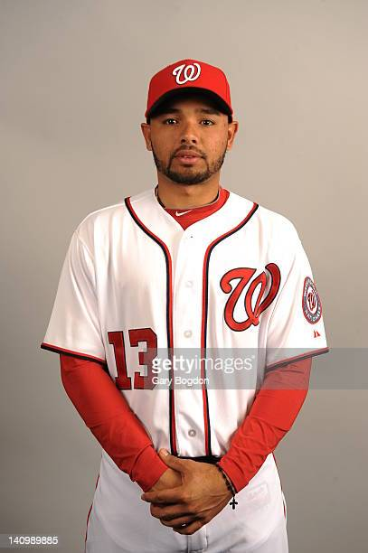 Andres Blanco of the Washington Nationals poses during Photo Day on Tuesday February 28 2012 at Space Coast Stadium in Viera Florida