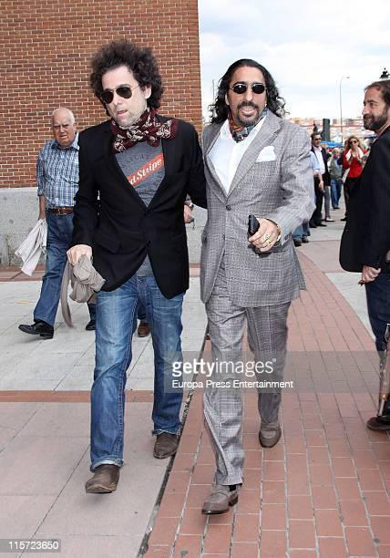 Andres Calamaro and Diego 'El Cigala' attend a Charity Bullfight at Plaza de Toros de Las Ventas on June 8 2011 in Madrid Spain