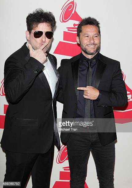 Andres Calamaro and Diego Torres arrive at the 2014 Person of the Year honoring Joan Manuel Serrat held at The Mandalay Bay Resort and Casino at the...