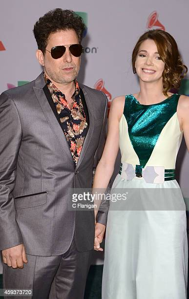 Andres Calamaro and guest attend the 15th annual Latin GRAMMY Awards at the MGM Grand Garden Arena on November 20 2014 in Las Vegas Nevada