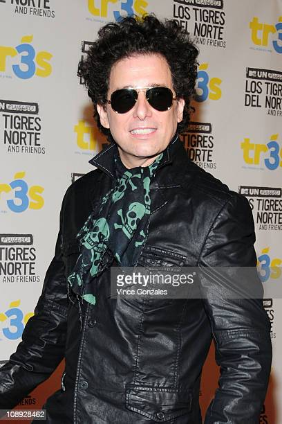 Andres Calamaro arrives at the MTV Unplugged Taping For Los Tigres Del Norte Friends held at the Hollywood Palladium on February 8 2011 in Los...