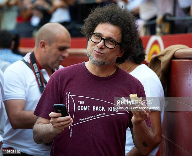 Andres Calamaro attends a bullfight at the Plaza Valencia bullring on July 22 2011 in Valencia Spain