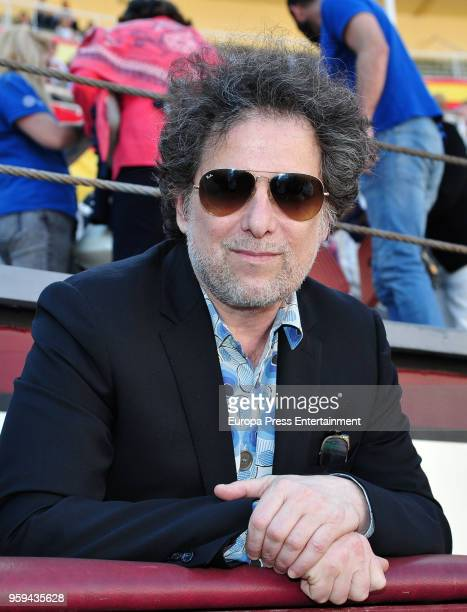 Andres Calamaro attends a bullfighting of San Isidro Fair at Las Ventas bullring at Las Ventas Bullring on May 16 2018 in Madrid Spain