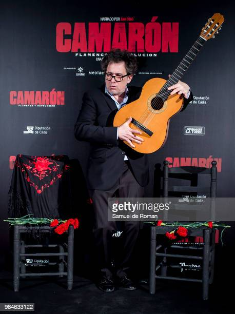 Andres Calamaro attends 'Camaron Flamenco Y Revolucion' Madrid Premiere on May 31 2018 in Madrid Spain