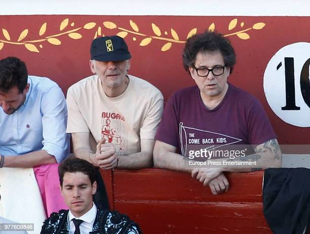 Andres Calamaro attends Cayetano Rivera performance during a bullfighting on June 17 2018 in Torrejon De Ardoz Spain