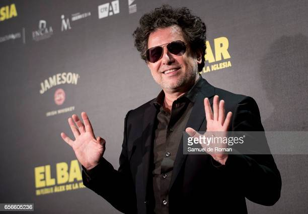 Andres Calamaro attends 'El Bar' premiere at Callao cinema on March 22 2017 in Madrid Spain