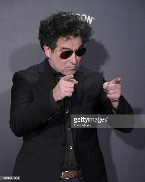 Andres Calamaro attends the 'El Bar' premiere at Callao cinema on March 22 2017 in Madrid Spain