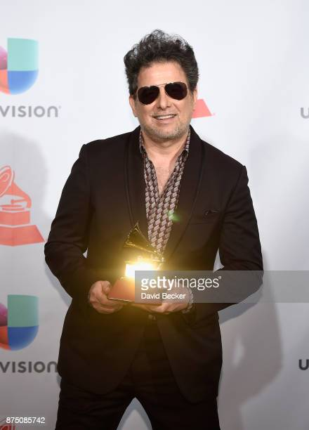 Andres Calamaro poses in the press room during The 18th Annual Latin Grammy Awards at MGM Grand Garden Arena on November 16 2017 in Las Vegas Nevada