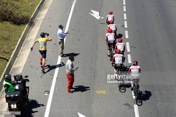 Andres Camilo Ardila Ordoñez of Colombia and UAE Team Emirates / Fabio Aru of Italy and UAE Team Emirates / Sergio Luis Henao Montoya of Colombia and...