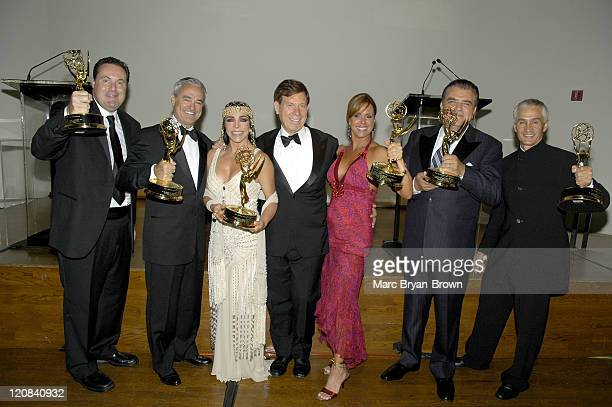Andres Cantor Ray Rodriguez Veronica Castro President of the National Television Academy Peter PriceMaria CelesteArrarás Mario Kreutzberger and...