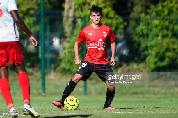 Andres CUBAS of Nimes during the friendly match between Nimes and Rodez on August 4, 2020 in Nimes, France.