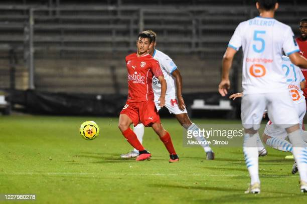 Andres CUBAS of Nimes during the friendly match between Nimes and Marseille on August 9, 2020 in Nimes, France. During the friendly match between...