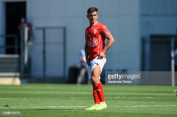 Andres CUBAS of Nimes during the Ligue 1 match between Nimes and Brest on August 23, 2020 in Nimes, France.