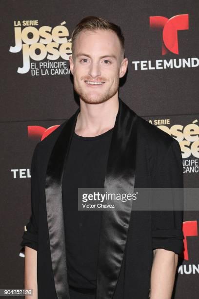 Andres Dardon attends the 'Jose Jose El Principe De La Cancion' Telemundo tv series premiere at Four Seasons hotel on January 11 2018 in Mexico City...