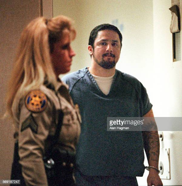 Andres De La Torre Oxnard enters courtroom for sentencing on a variety of sex crimes for which he received a sentence of 196 years Friday afternoon
