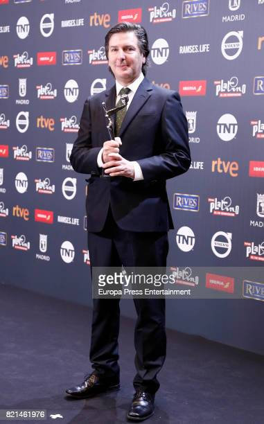 Andres Drupat is seen at Platino Awards winners press room at La Caja Magica on July 22 2017 in Madrid Spain