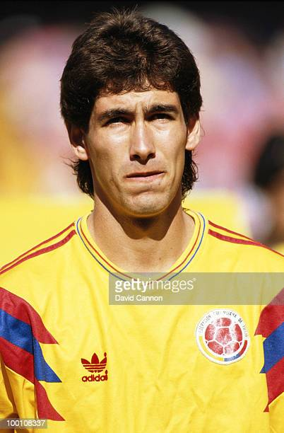 Andres Escobar of Colombia during the Round of 16 match against the Cameroon at the 1990 FIFA World Cup on 23 June 1990 at the San Paolo Stadium in...