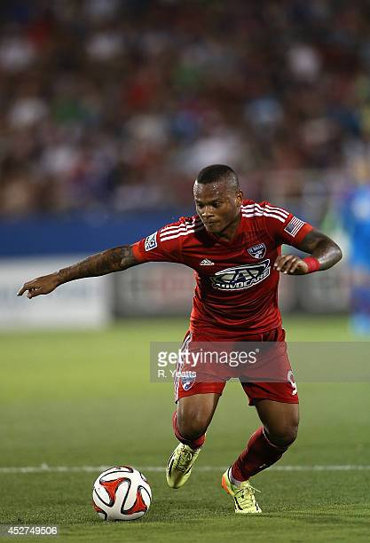 Andres Escobar of FC Dallas gains possession of the ball against the Philadelphia Union at Toyota Stadium on July 4 2014 in Frisco Texas