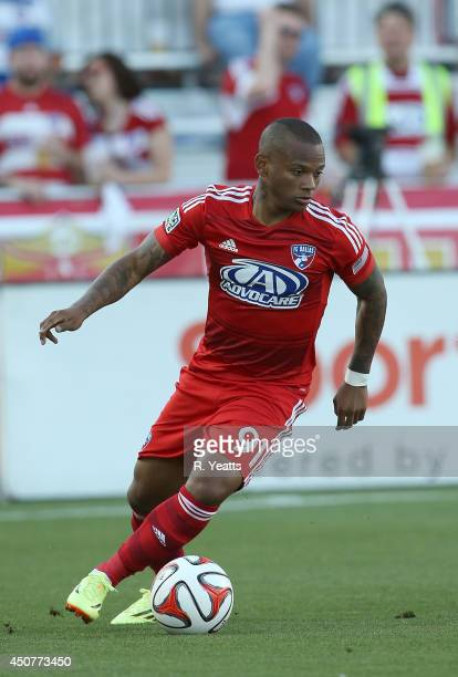 Andres Escobar of FC Dallas handles the ball against the Colorado Rapids at Toyota Stadium on June 7 2014 in Frisco Texas