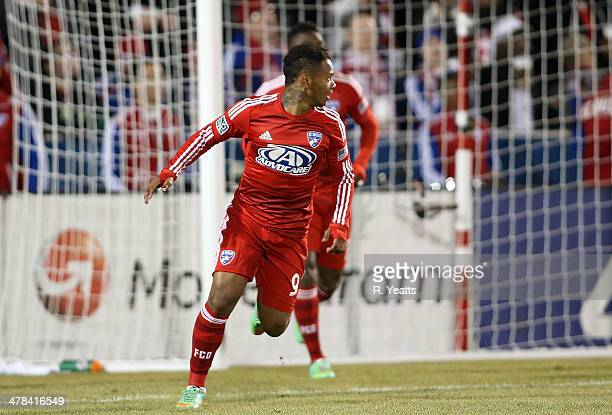 Andres Escobar of FC Dallas in action against the Montreal Impact at Toyota Stadium on March 8 2014 in Frisco Texas
