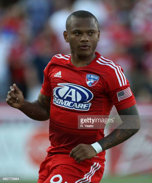 Andres Escobar of FC Dallas jogs down the field against the Colorado Rapids at Toyota Stadium on June 7 2014 in Frisco Texas