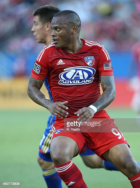 Andres Escobar of FC Dallas scans the field against the Colorado Rapids at Toyota Stadium on June 7 2014 in Frisco Texas