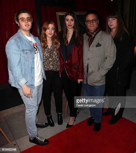 Andres Garcia, actresses/sisters Daniella Garcia-Lorido and Dominik Garcia-Lorido, father/actor Andy Garcia and mother Marivi Lorido Garcia attend...