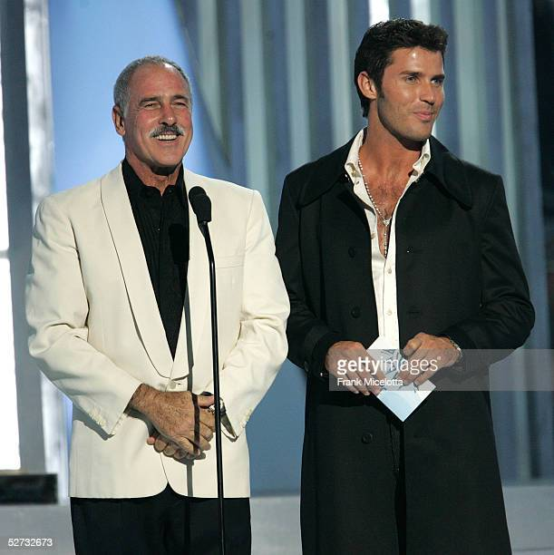 Andres Garcia and his son Andres Jr performs onstage at the 2005 Billboard Latin Music Awards at the Miami Arena April 28 2005 in Miami Florida