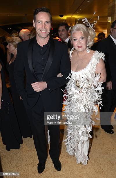 Andres Garcia Jr and Lady Monica Hefler attends 20th Annual Intercontinental Miami MakeAWish Ball at Hotel intercontinental on November 1 2014 in...