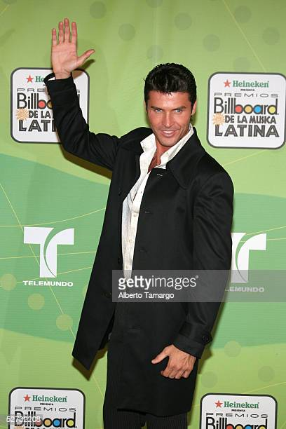 Andres Garcia Jr poses backstage at 2005 Billboard Latin Music Awards at the Miami Arena April 28 2005 in Miami Florida