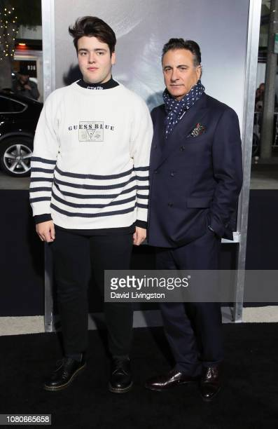 Andres GarciaLorido and Andy Garcia attend Warner Bros Pictures World Premiere of The Mule at Regency Village Theatre on December 10 2018 in Westwood...